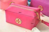 Moda oídos rosados del envío de las mujeres libres cosmética organizador maquillaje diseñador del bolso del bolso de embrague 3 clor