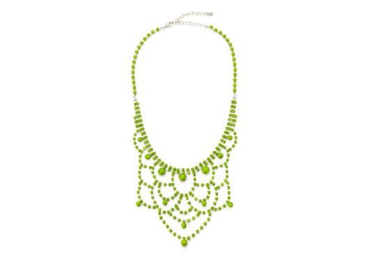 Neon Gem Bib Necklace