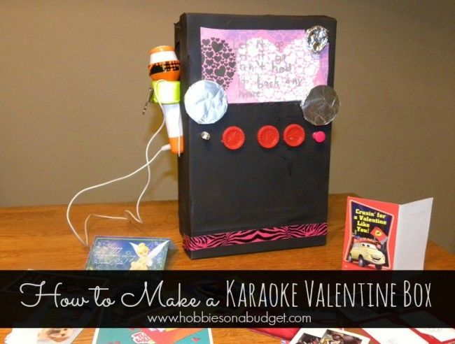 How To Make A Karaokemachine Valentinesday Box Crafts