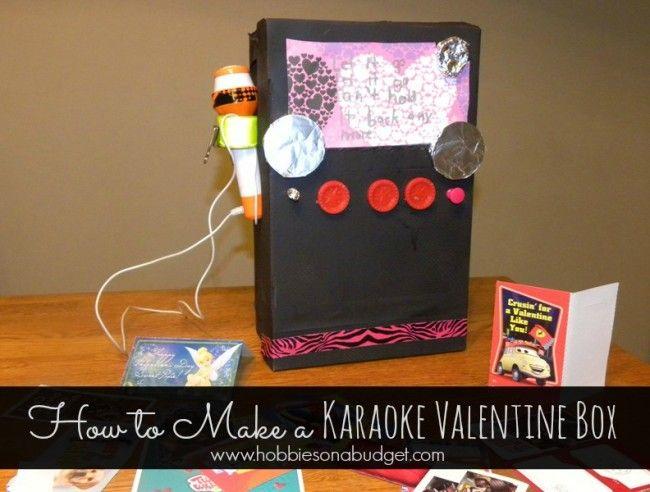 How To Make A Karaokemachine Valentinesday Box Crafts