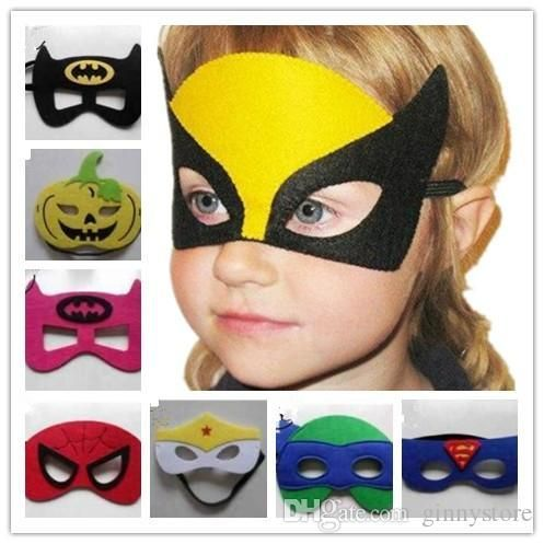 Free shipping, $0.66/Pieza:buy wholesale 2layer fieltro trajes de superhéroes MÁSCARA Superman Spiderman Batman Hulk Thor IronMan flash Halloween Party Wolverine Capitán América para Niños from DHgate.com,get worldwide delivery and buyer protection service. - Visit to grab an amazing super hero shirt now on sale!