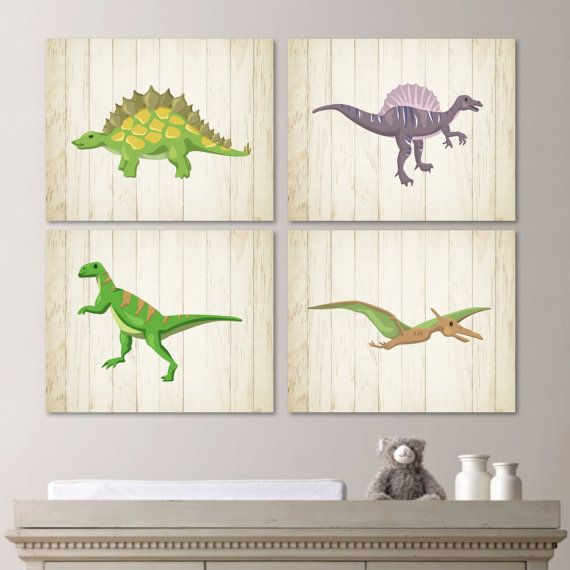 Dinosaur quad print baby decor nursery by rhondavousdesigns2 boys room pinterest babies - Boys room dinosaur decor ideas ...
