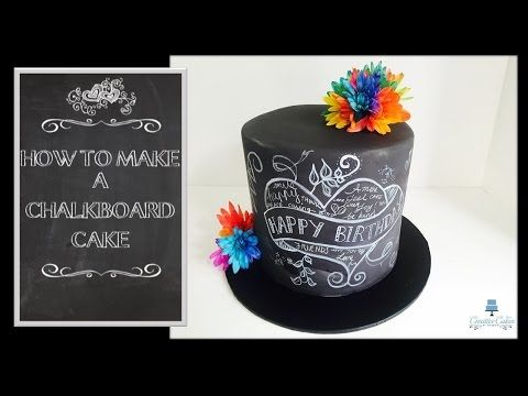 How to make a 'Back to School' Chalkboard Cake from Creative Cakes by Sharon - YouTube