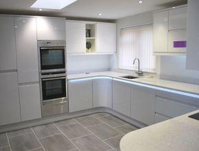 Remo Dove Grey & White - Kitchens By Dexter kitchen