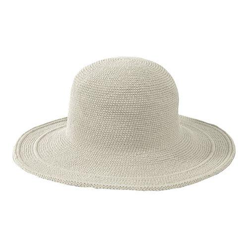 622f4beae0e122 Women's San Diego Hat Company Cotton Crochet Hat Large Brim CHL5 - Stone  Hats   Products   Crochet hats, Hats, Cotton crochet