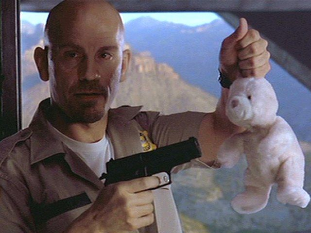 John Malkovich in Con Air....Make a move and the bunny gets it.