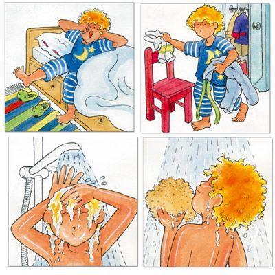 Lavarse los dientes, levantarse, irse a dormir son rutinas que no siempre son fáciles de abordar. Con pictogramas etapa por etapa podemos facilitar la tarea
