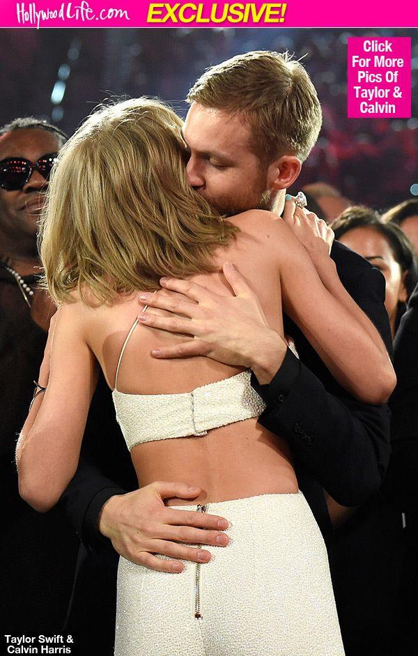Taylor Swift Kisses Calvin Harris After Watching His DJ Gig in LasVegas