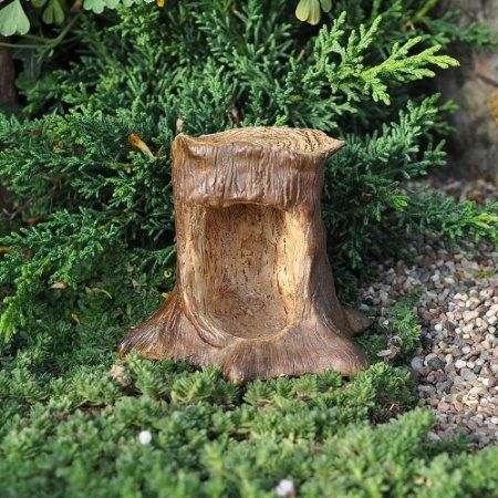 61 best images about tree stump ideas on pinterest house for Hollow tree trunk ideas