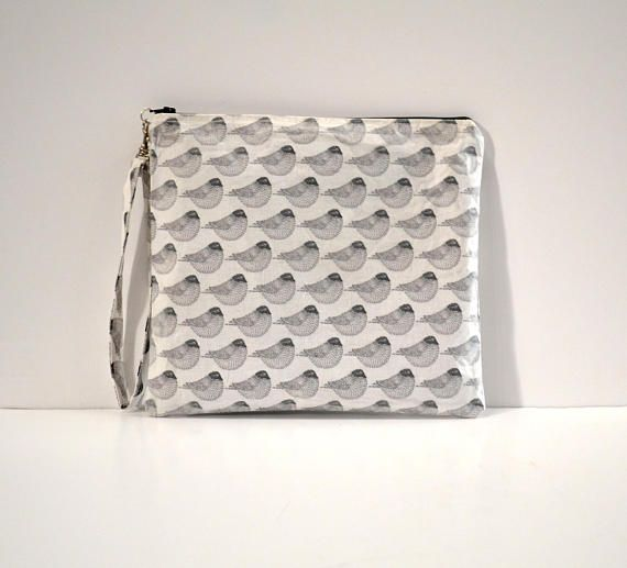 Laminated fabric clutch bagwristlet