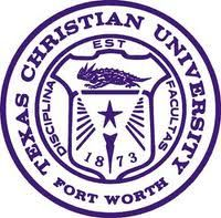 """Texas Christian University Seal --Texas Christian University (TCU) is a private, coeducational university located in Fort Worth, Texas, United States and founded in 1873. TCU is affiliated with, but not governed by, the Disciples of Christ. Its mascot is the """"horned frog."""" TCU has an enrollment of roughly 9,518 students, 8,229 of which are undergraduates."""