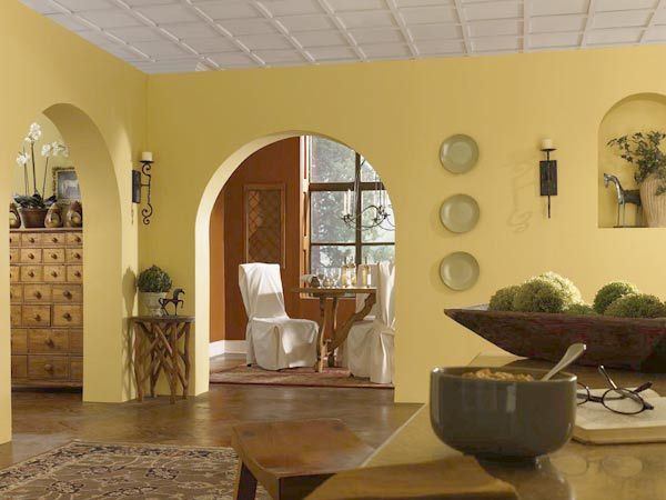 Color Of The Month March 2015 Custard Yellow Living Room Paint Formal Living Rooms And