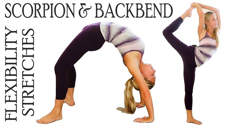 19 min - Flexibility Stretch Exercises Workout for Scorpion & Back Bends For Ball...