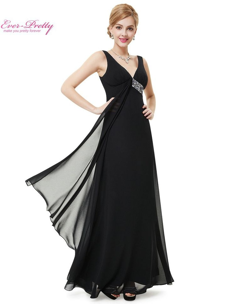 Fancy Long Party Dress Ever Pretty HE V neck Flowy Ribbon Sequined Waist Summer Style