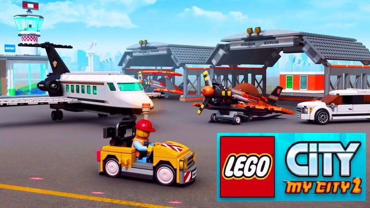 Лего Сити 2 Аэропорт Самолеты Игра как Мультик про машинки LEGO City My ...