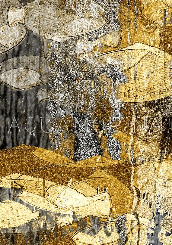 gold fishes 3wall decorationhome decormodern graphic by aquamorina