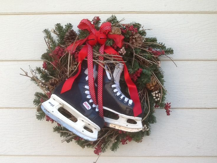Hockey skates-that's how we do Christmas in this house!