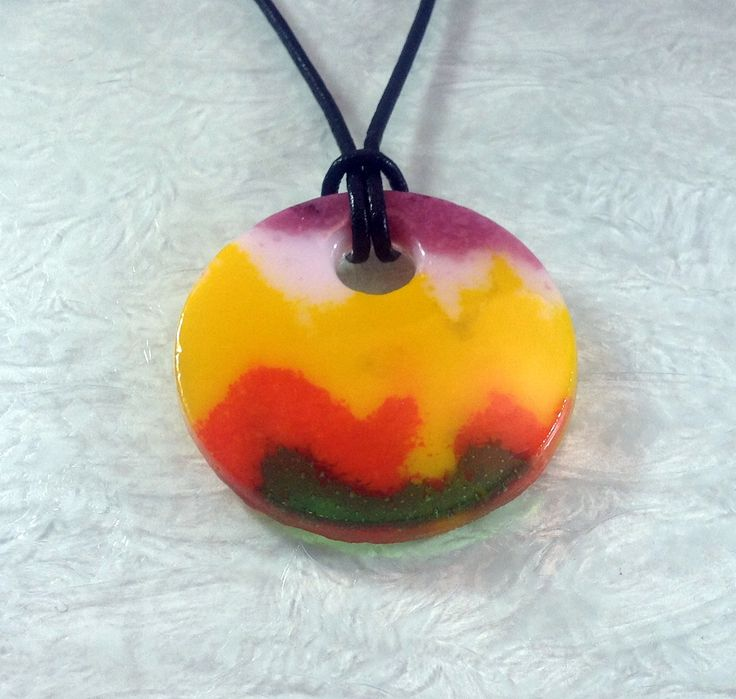 bright yellow fused glass