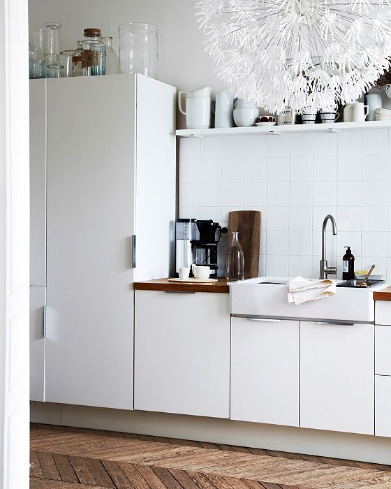 IKEA - A mix of open and closed storage keeps the space light and packed with texture