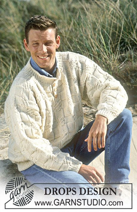 Hand knitted unisex mens womens textured jumper sweater
