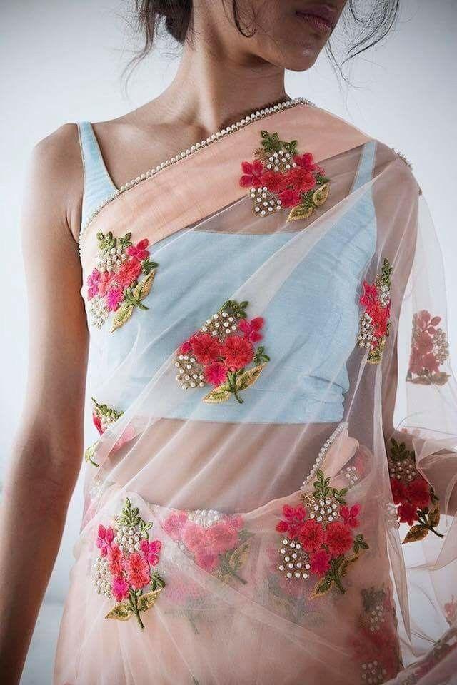 Floral saree.