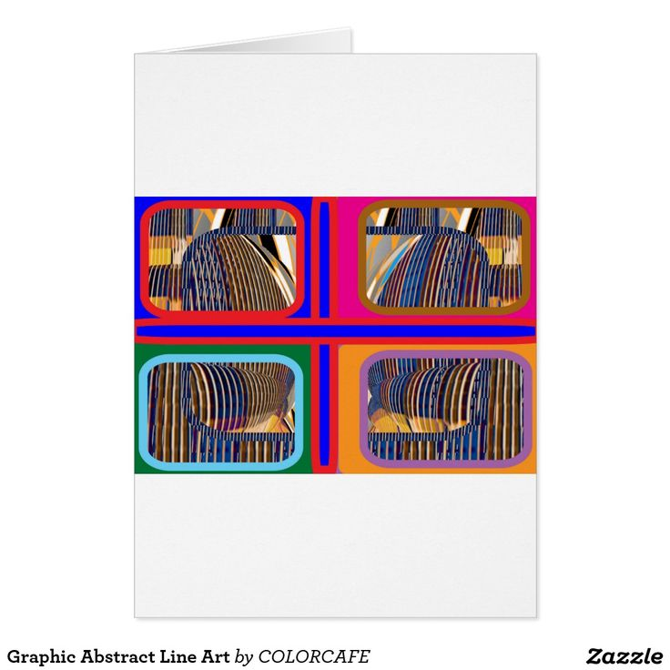 Graphic Abstract Line Art Card