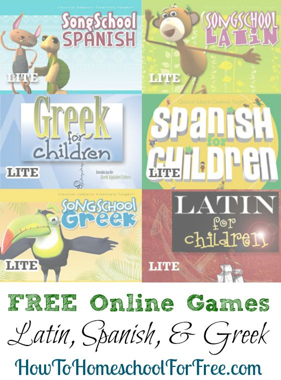Get access to several FREE language learning games for learning Spanish, Latin, …