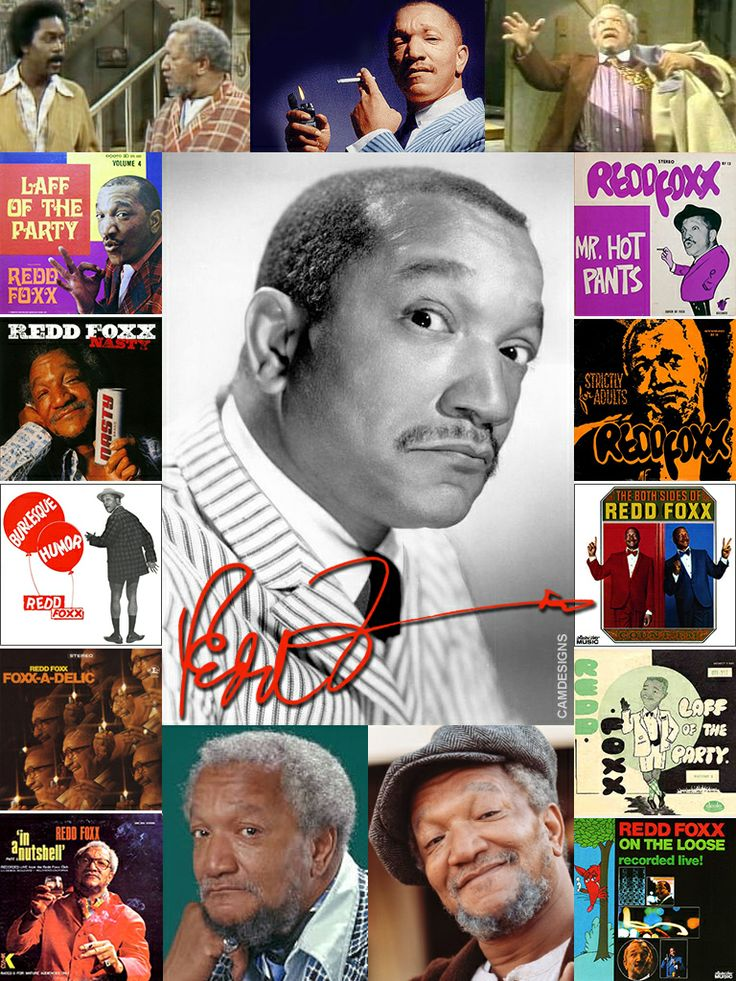 "Redd Foxx (born John Elroy Sanford, Dec. 9, 1922 – Oct. 11, 1991) was an American comedian & actor, best remembered for his explicit comedy records and his starring role on the 1970s sitcom Sanford and Son. Foxx gained notoriety with his raunchy nightclub acts during the 1950s & 60s. Known as the ""King of the Party Records"", he performed on more than 50 records in his lifetime. On October 11, 1991, during a break from rehearsals for The Royal Family, he suffered a fatal heart attack on the…"