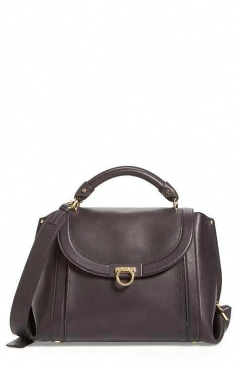 9e5ff91856 Salvatore Ferragamo Medium Suzanna Leather Satchel  Burberryhandbags ...