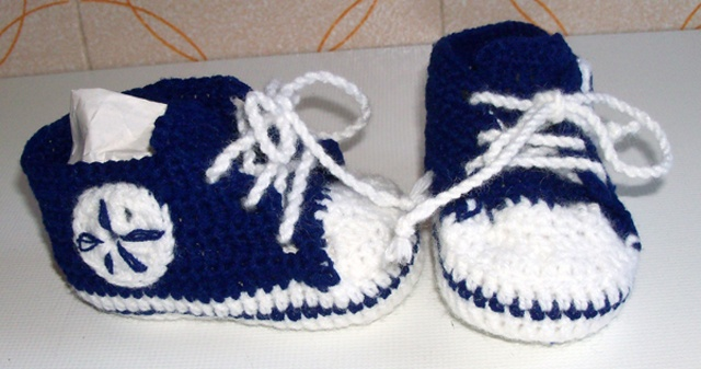 Baby All Star crocheted  Made in Italy