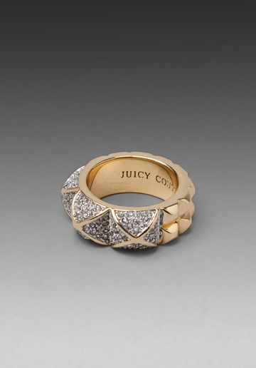 JUICY COUTURE Pyramid Band Ring in Gold at Revolve Clothing - Free Shipping!Free Ships, Studs Muffins, Revolvers Clothing, Juicy Couture, Pyramid Band, Band Rings, Couture Pyramid