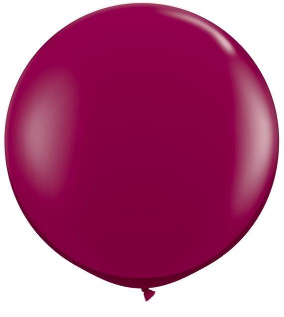 Birthday Party Balloons Giant Party Balloon Party Balloons Large Latex Balloons 3ft Balloons Large Fuchsia Balloon