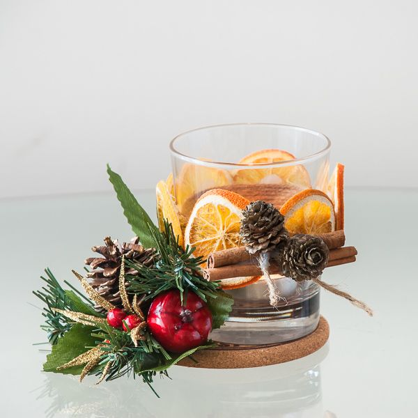 Christmas candle holder centerpieces