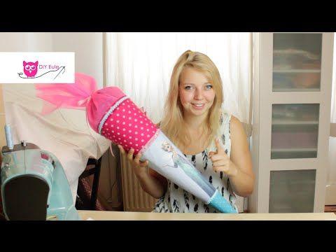 Schultüte nähen mit Elsa von Frozen / Schultüte für Prinzessinnen - DIY Eule - YouTube
