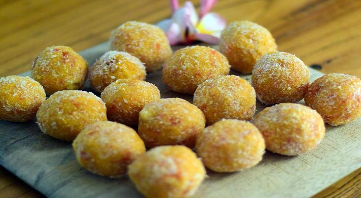 My apricot, coconut and macadamia bliss balls with fresh orange… | A Home Heart Felt