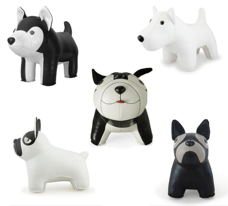 Bring Some Cuteness To Your Bookshelf With Modern Dog Bookends From Zuny.