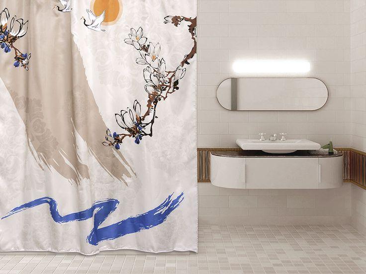 WESS Tokku - занавеска для ванной комнаты из ткани 180x200 см. Цена 1200р. Посмотреть на сайте: http://likemyhome.ru/catalog/shtorki-karnizy-kolca/00003126 #likemyhome #showercurtain #bathroomdecor #interiorstyle #wess #tokku