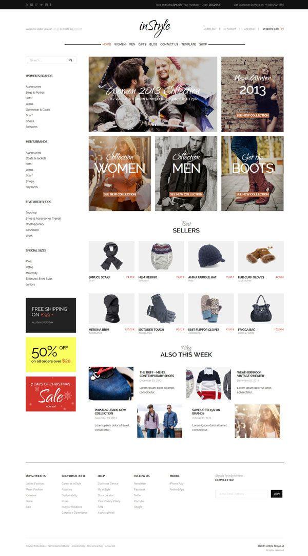 inStyle - eCommerce Theme on Behance #ecommerce