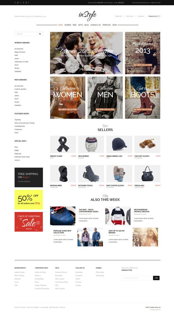 inStyle - eCommerce Theme on Behance #ecommerce