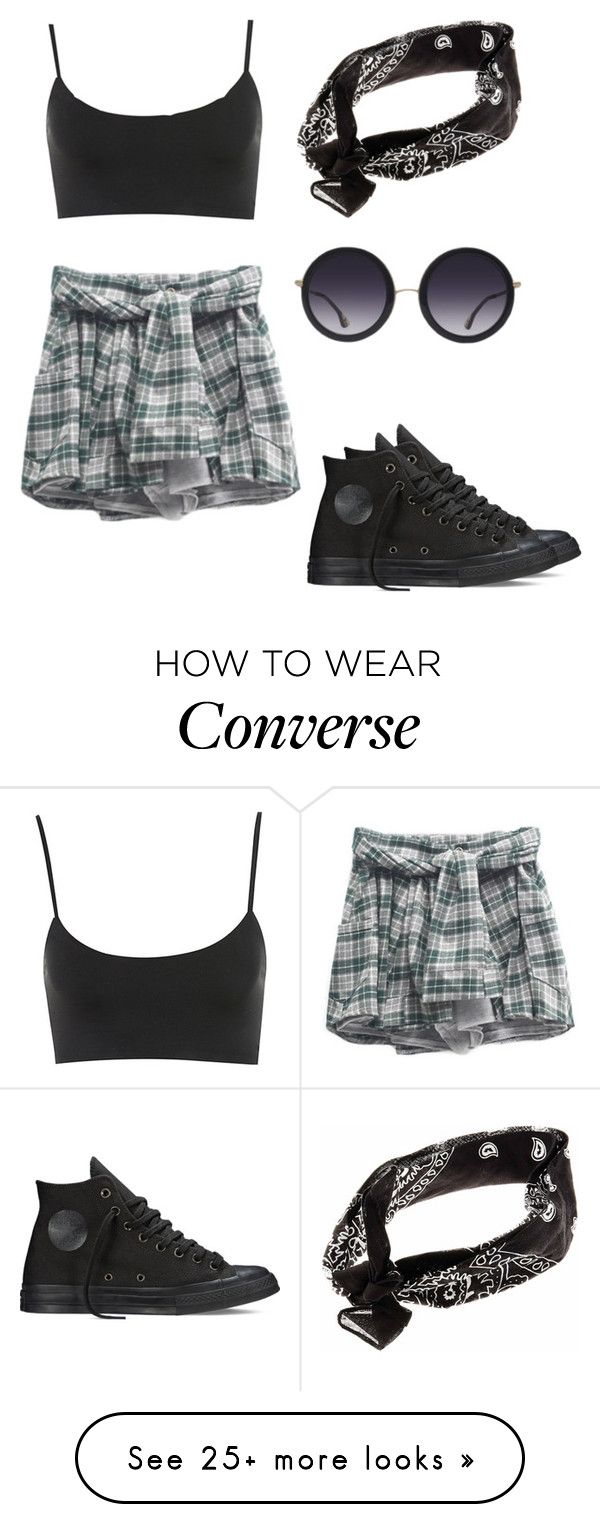 """Untitled #252"" by aliinnnaaa on Polyvore featuring Converse and Alice + Olivia"