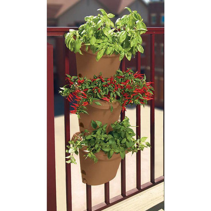 Bloem terra cotta hanging garden plastic planter system 3