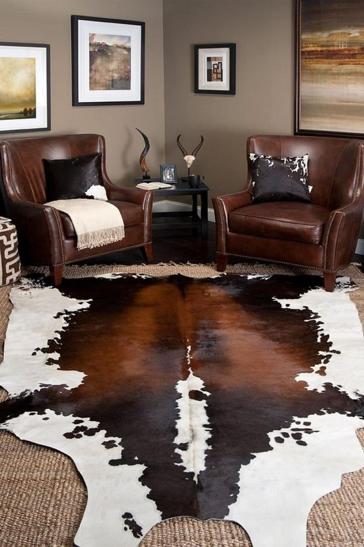 Themsfly Inspiring Cowhide Rug Design for Rustic Modern Touch