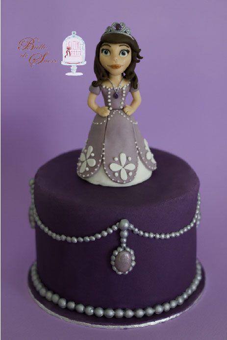 g teau princesse sofia en p te sucre princess sofia cake by bulle de sucre g teaux en. Black Bedroom Furniture Sets. Home Design Ideas