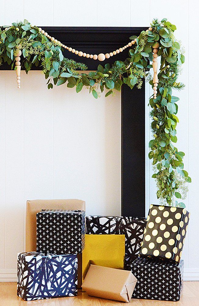 This Christmas garland DIY from @OleanderandPalm puts the wonderful in the most wonderful time of the year. Learn how to make this beautiful greenery idea out of eucalyptus for your mantle. #fiskars #garland #diy #holidays #christmasgarland