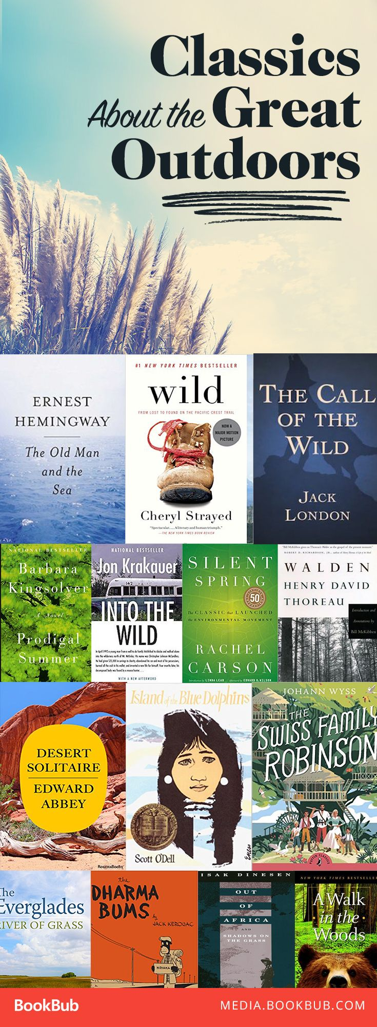 15 classic books to read about the great outdoors. This list includes some of the best literature about nature and adventure.