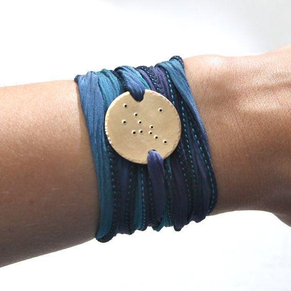 Virgo, Virgo Jewelry, Virgo Bracelet, Constellation Jewelry, Constellation Bracelet, Wrap Bracelet, Zodiac Jewelry