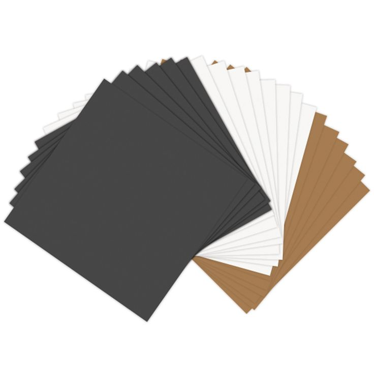 """Sizzix Paper Leather Sheets 6""""x6"""" - Basics Assorted"""