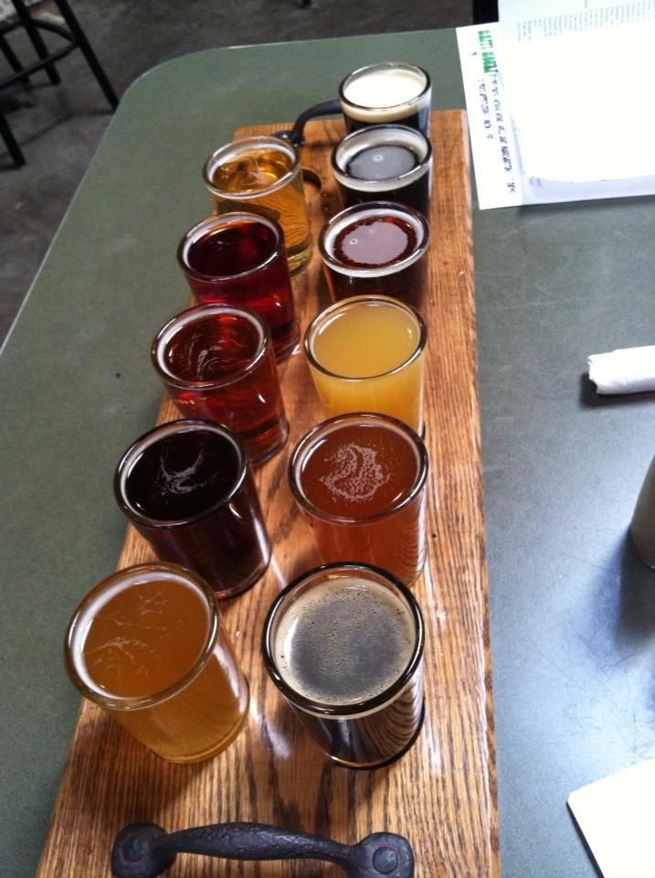 beer flight with handles, maybe have two or three for parties to special order
