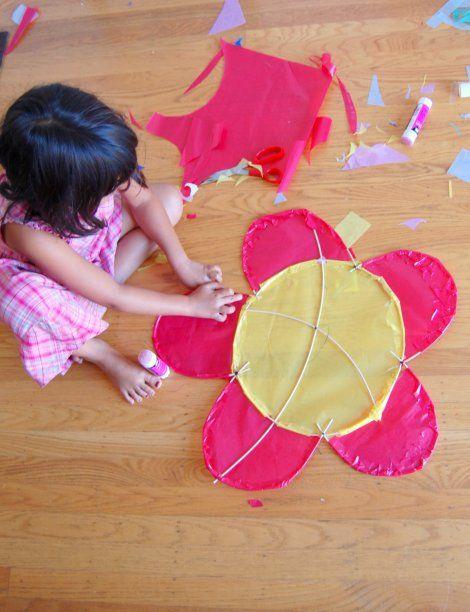 Make your own kites #DIY #kids #kites