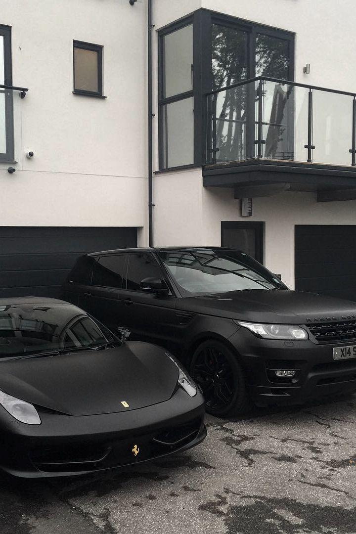 Matte Black Family | Ferrari 458 x Range Rover Sport